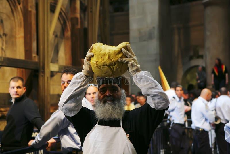 Cerimónia do milagre santamente do incêndio imagem de stock