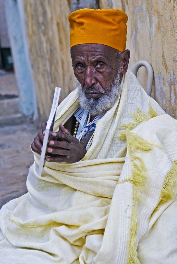 Cerimónia santamente etíope do incêndio fotografia de stock royalty free