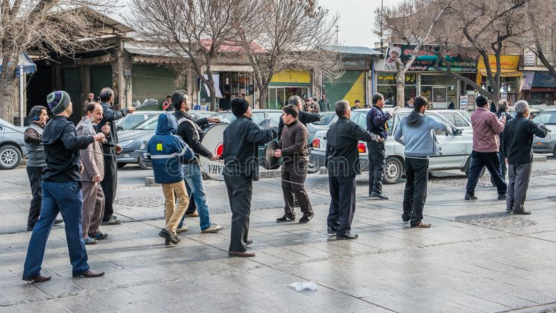 Cerimônia de lamentação em Irã imagem de stock royalty free