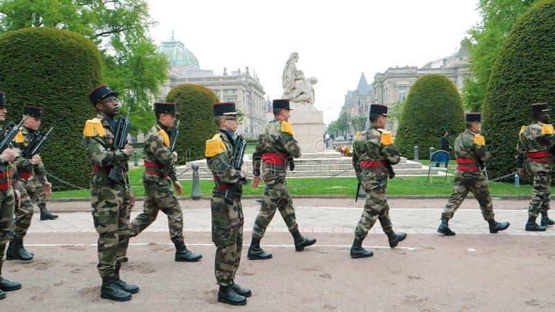 Cerimônia para marcar o armistício ocidental da vitória da segunda guerra mundial dos aliados fotos de stock royalty free