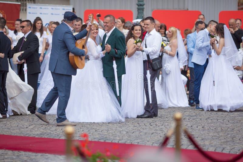 Cerimônia de casamento coletiva tradicional em Belgrado 7 foto de stock royalty free