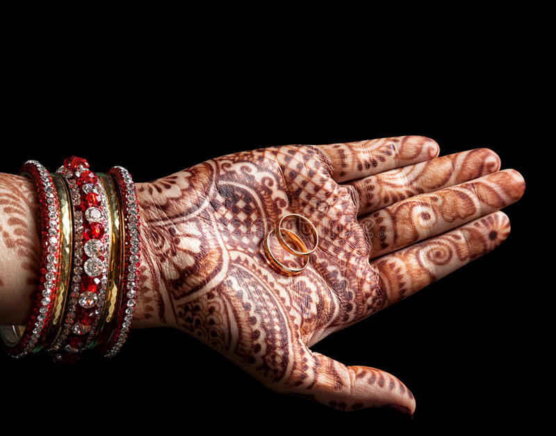 Cerimônia de casamento indiana imagens de stock royalty free