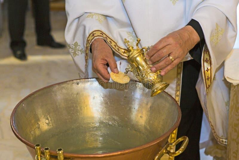 Cerimônia do batismo imagens de stock