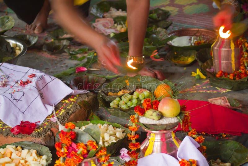 Cerimônia hindu em Nepal, Shivaratri imagem de stock