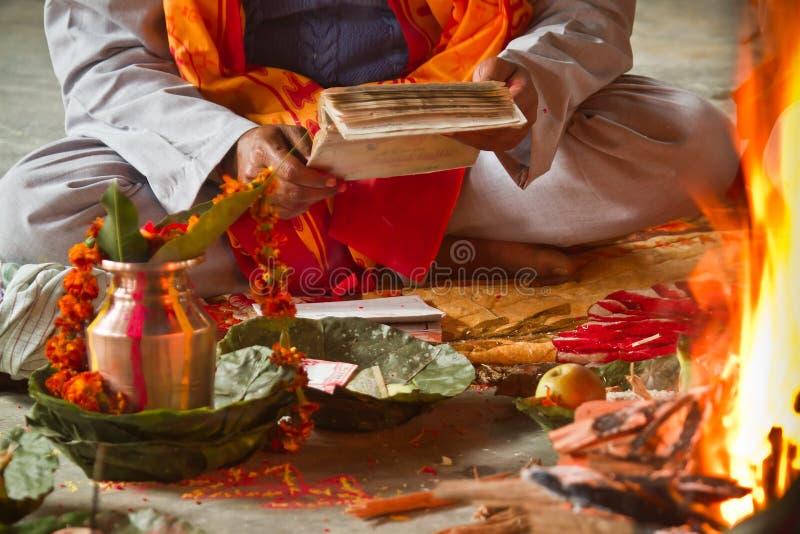 Cerimônia hindu em Nepal, Shivaratri imagem de stock royalty free