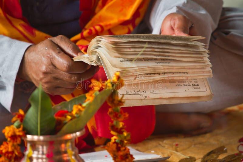Cerimônia hindu em Nepal, Shivaratri fotografia de stock royalty free