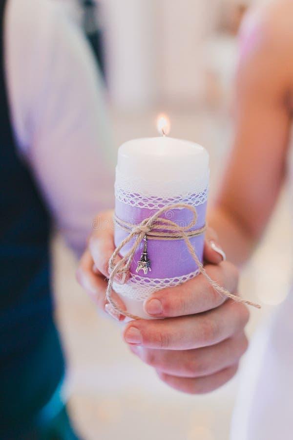 Cerimonia della candela fotografie stock libere da diritti