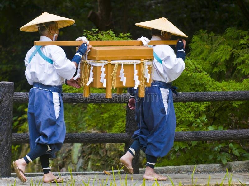 Cerimonia della raccolta del riso fotografia stock