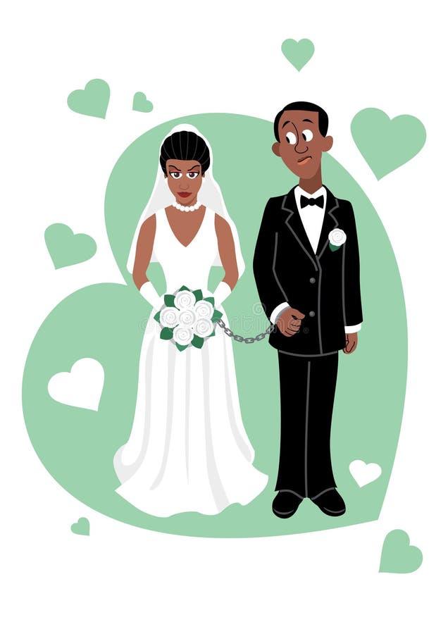 Cerimonia di cerimonia nuziale (Afro) royalty illustrazione gratis