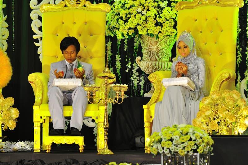 Cerimonia di cerimonia nuziale del Malay immagine stock