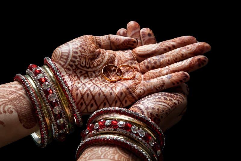 Download Cerimonia di nozze indiana fotografia stock. Immagine di bangles - 55354932
