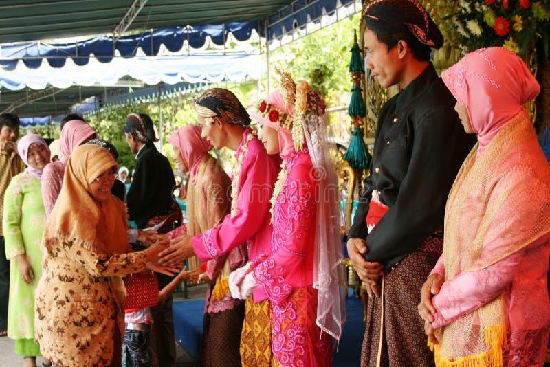 Cerimonia di nozze musulmana immagine stock