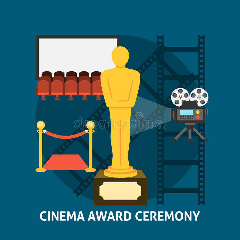 Cerimonia di premiazione del cinema illustrazione vettoriale