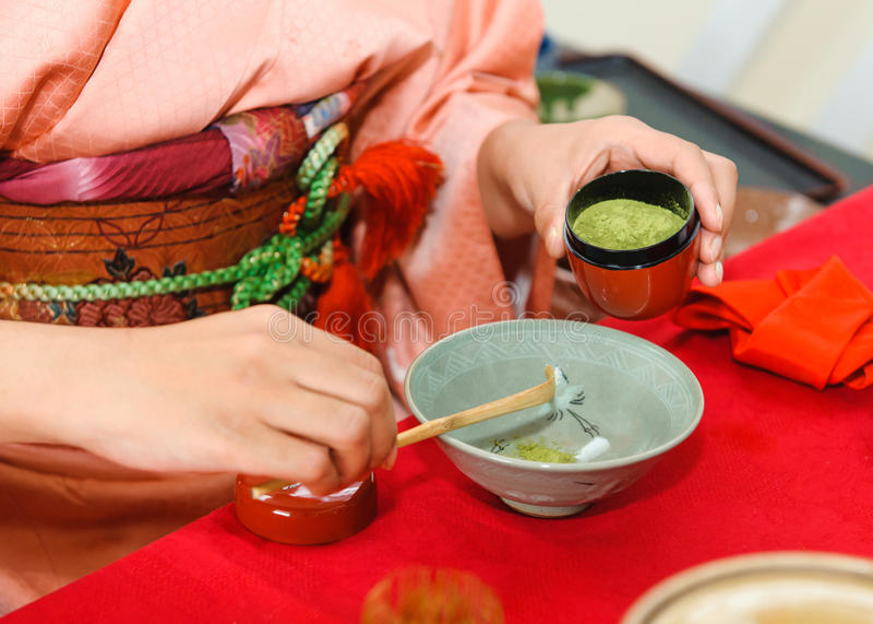 Cerimonia di tè giapponese immagine stock