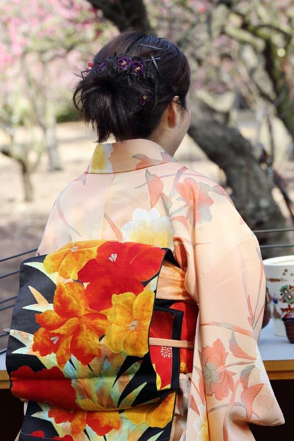 Cerimonia di tè verde giapponese immagine stock