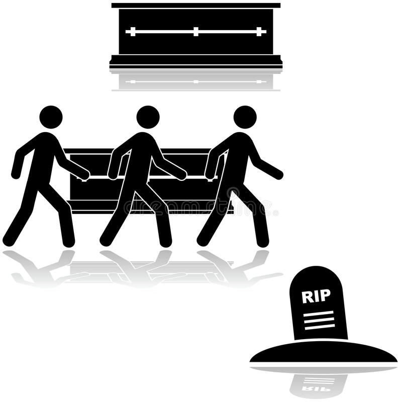 Cerimonia funerea illustrazione di stock