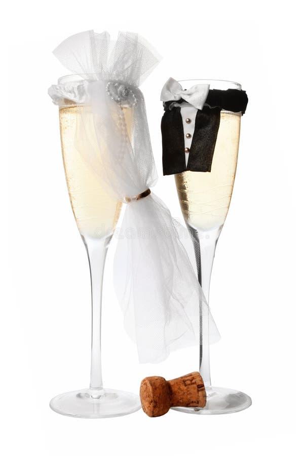 Cerimonia nuziale Champagne immagine stock libera da diritti
