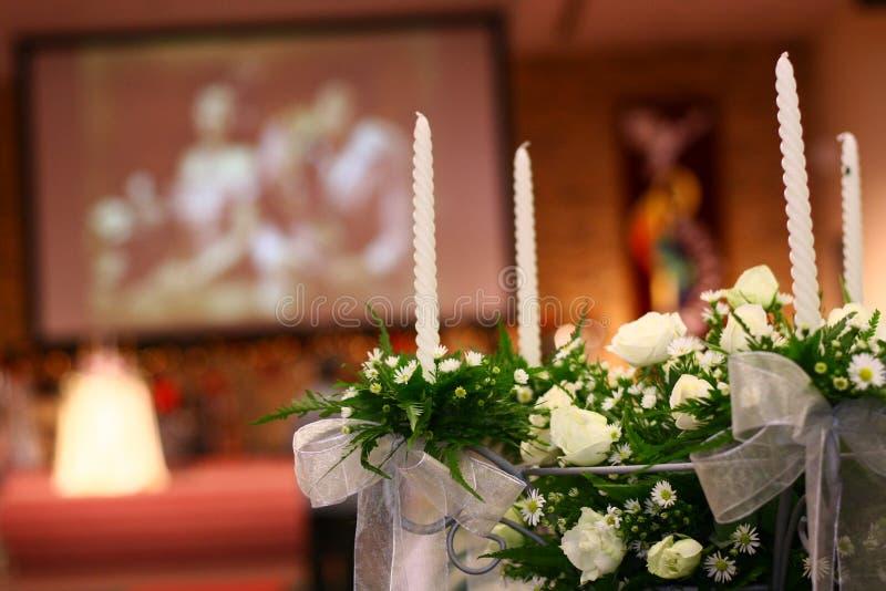 Cerimonia nuziale della chiesa immagine stock libera da diritti
