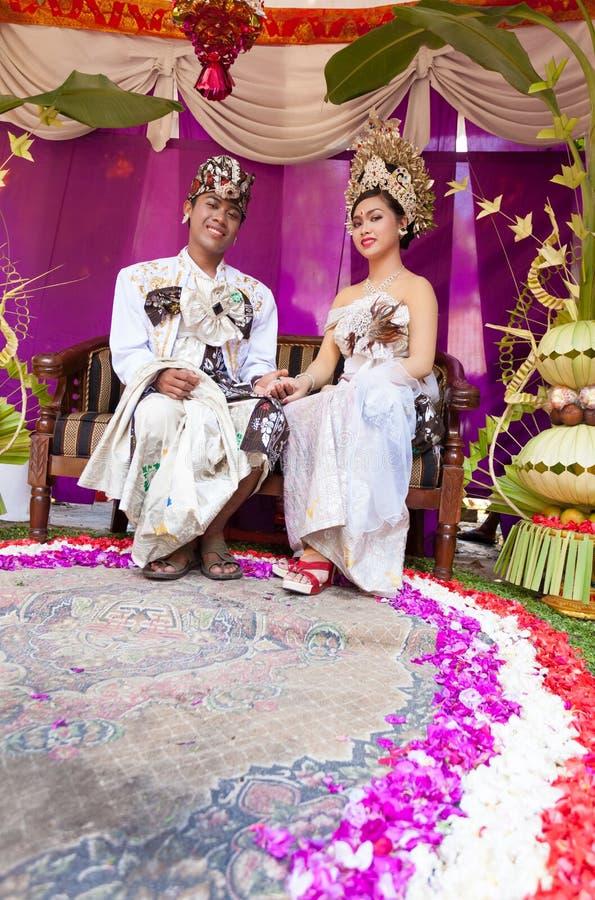 Cerimonia nuziale di Balinese fotografie stock