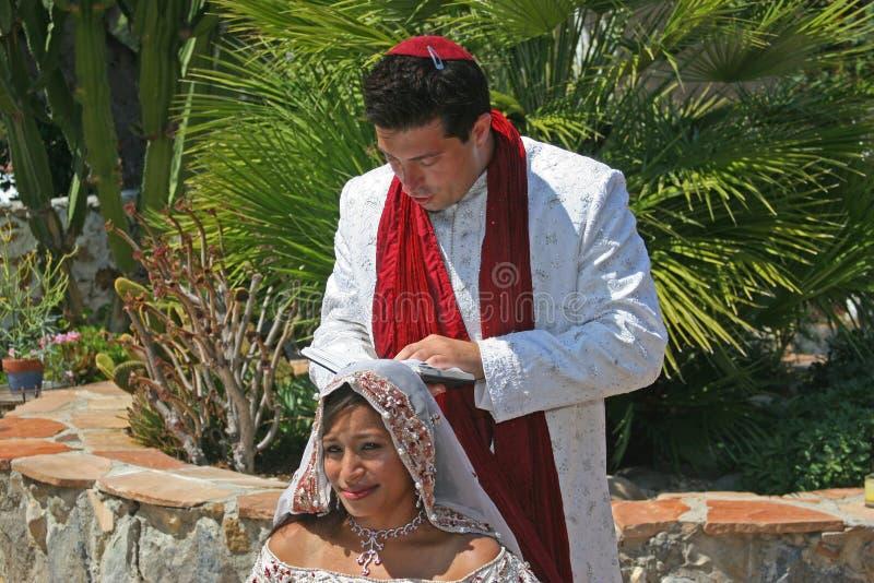 Cerimonia nuziale musulmana ed ebrea fotografia stock