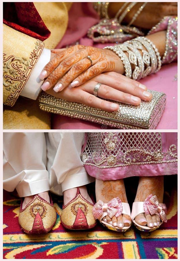 Cerimonia nuziale pakistana fotografia stock libera da diritti