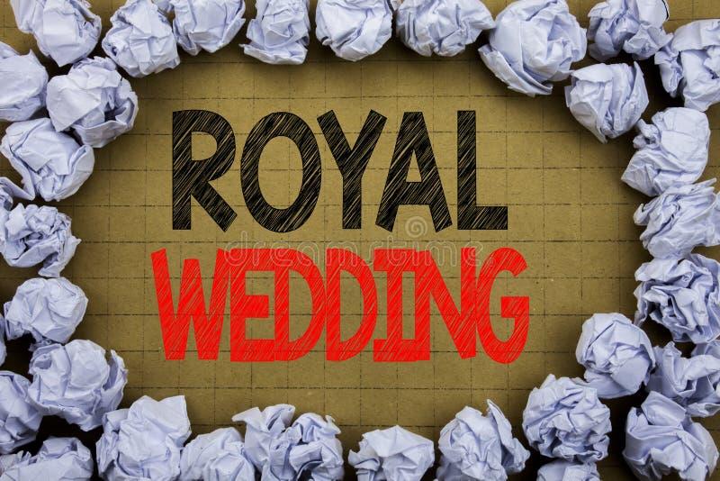 Cerimonia nuziale reale Concetto di affari per nozze di Britannici Inghilterra scritte su fondo d'annata con lo spazio della copi fotografia stock