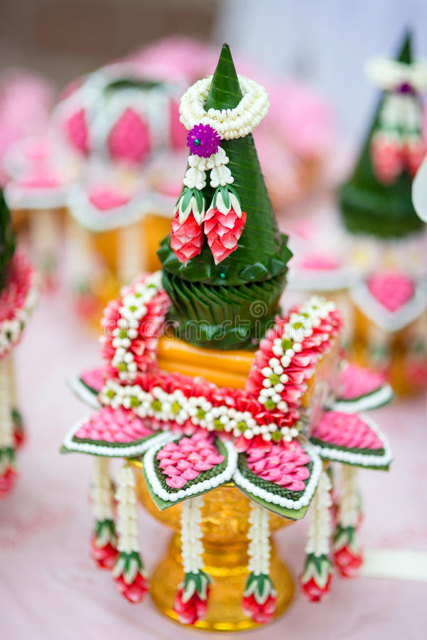 Cerimonia nuziale tailandese immagine stock