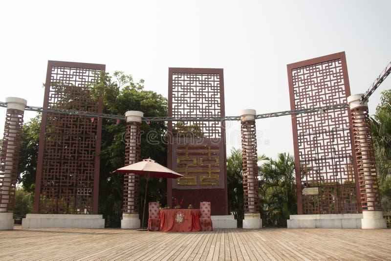 Cerimonia nuziale tradizionale cinese immagini stock