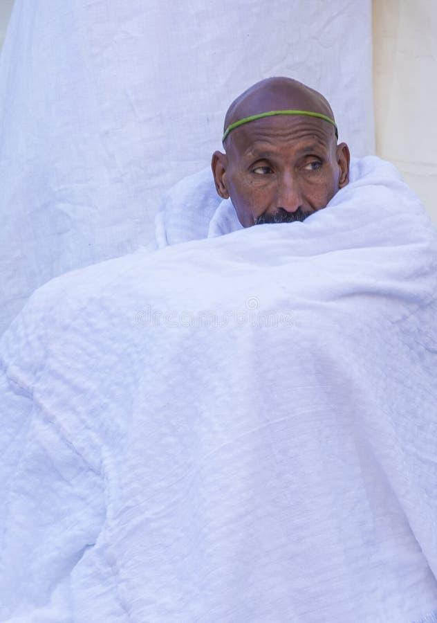 Cerimonia santa etiopica del fuoco fotografia stock libera da diritti