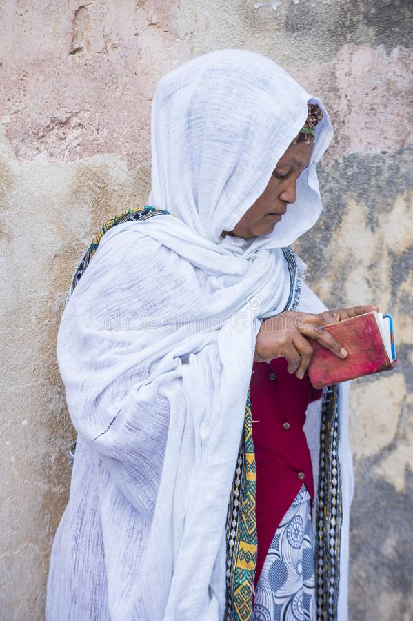 Cerimonia santa etiopica del fuoco immagini stock libere da diritti