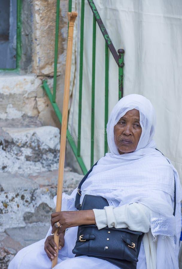 Cerimonia santa etiopica del fuoco immagini stock