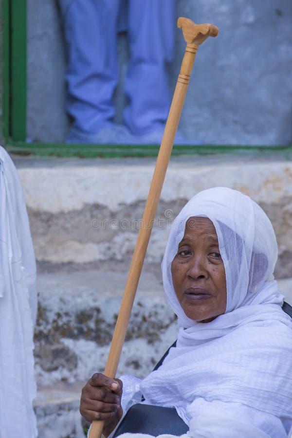 Cerimonia santa etiopica del fuoco fotografie stock