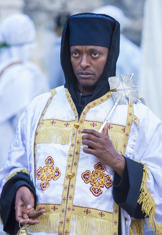 Cerimonia santa etiopica del fuoco immagine stock libera da diritti