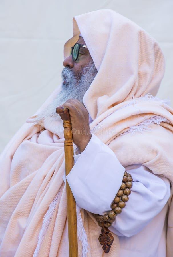 Cerimonia santa etiopica del fuoco immagine stock