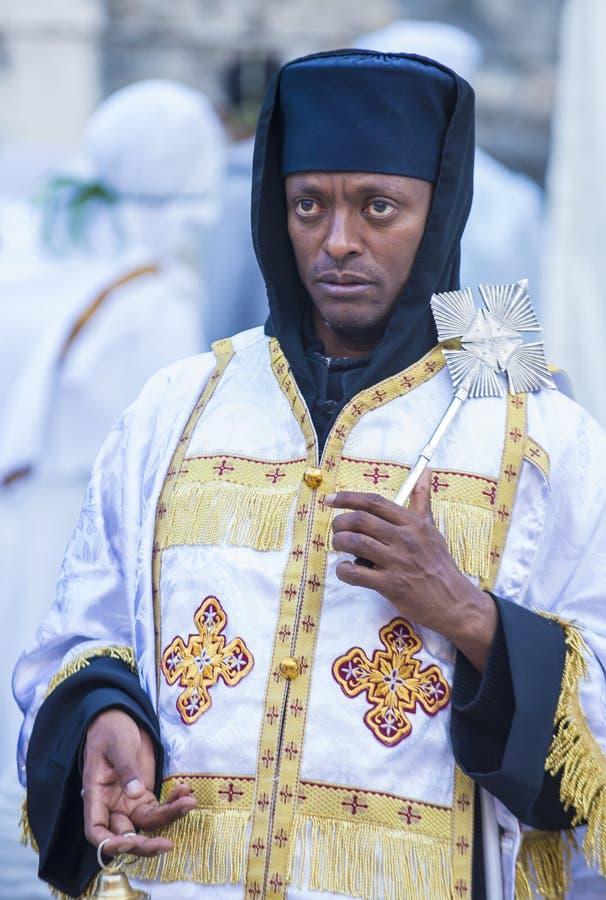 Cerimonia santa etiopica del fuoco fotografia stock
