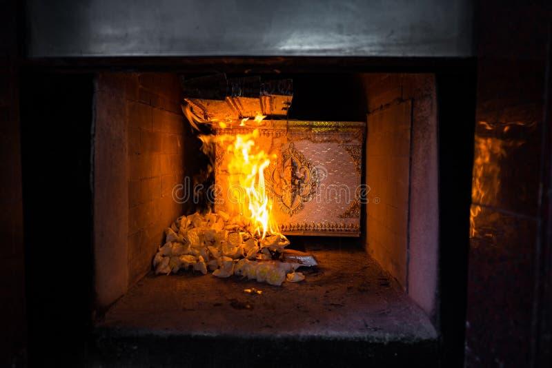 Cerimonia tailandese di cremazione fotografia stock libera da diritti