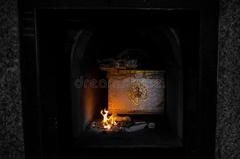 Cerimonia tailandese di cremazione fotografia stock