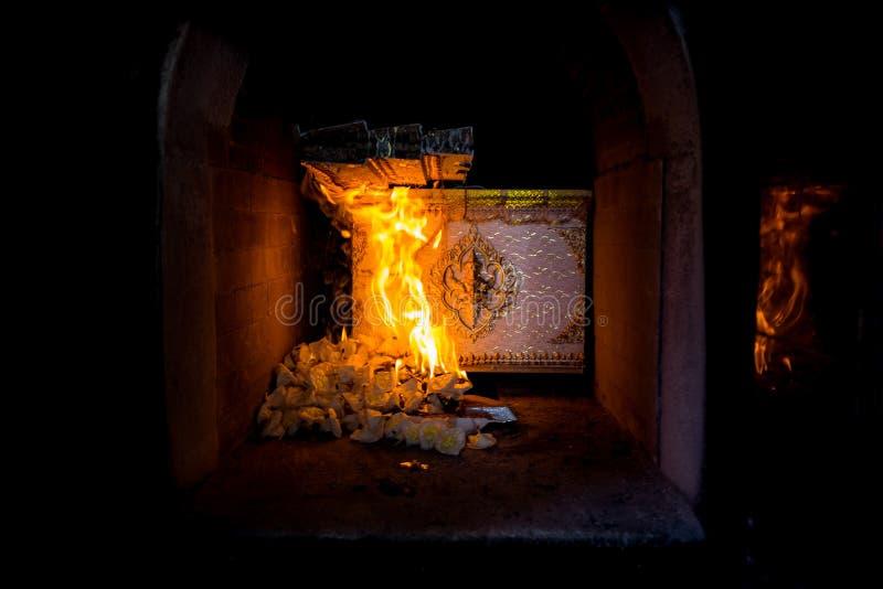 Cerimonia tailandese di cremazione immagine stock libera da diritti