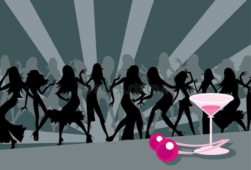 Cerise et danseurs illustration libre de droits