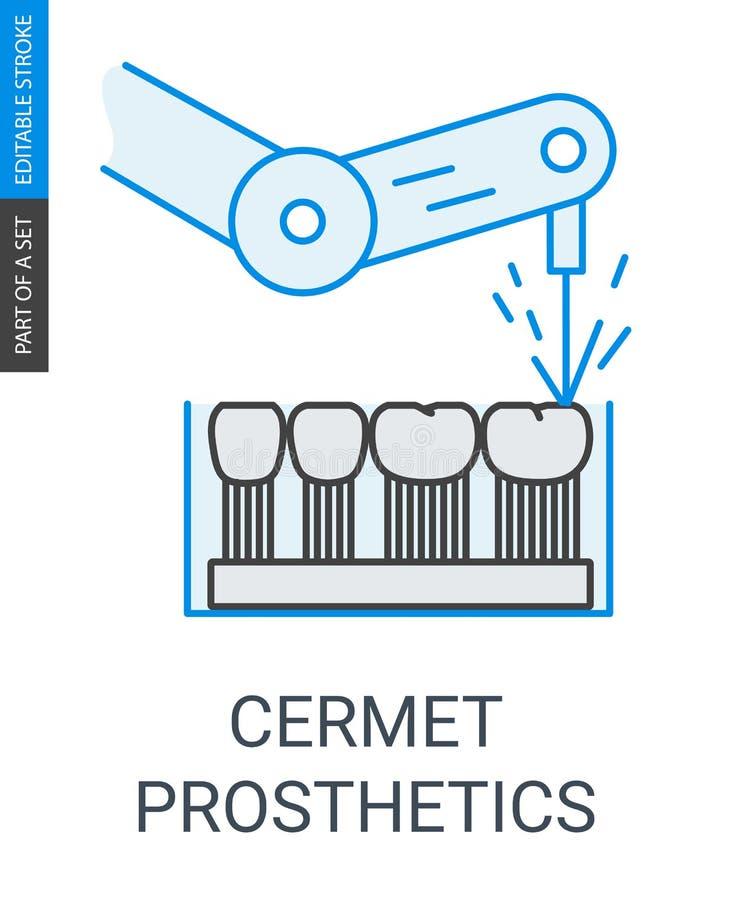 Cermet dental prosthetics icon royalty free illustration