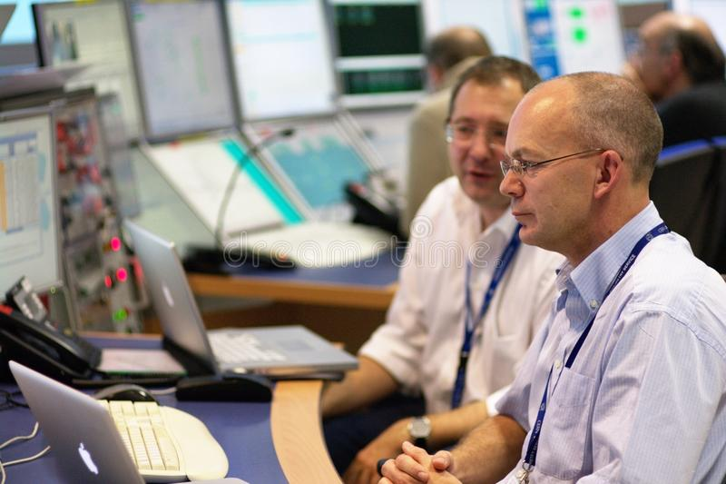 CERN ATLAS Control Room royalty free stock images
