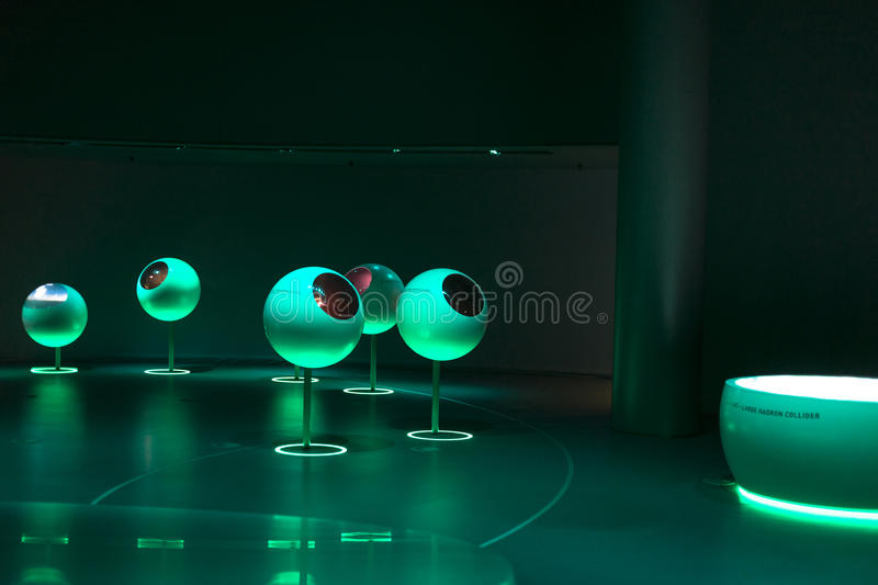 Cern, an exhibition building inside. royalty free stock photo
