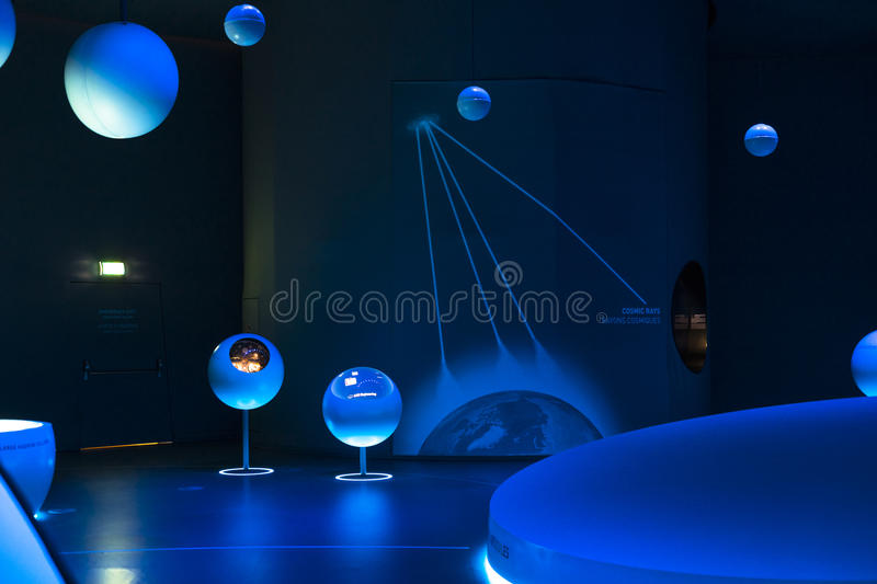 Cern, an exhibition building inside. royalty free stock image