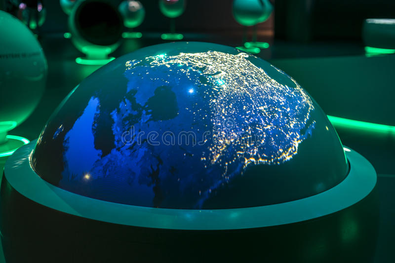 Cern, an exhibition building inside. royalty free stock images
