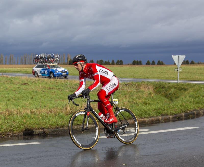 The Cyclist Dimitri Claeys - Paris-Nice 2017 stock images
