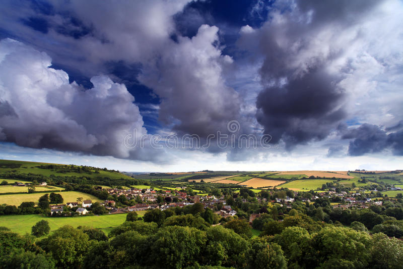 Cerne Abbas Dorset England royaltyfri bild
