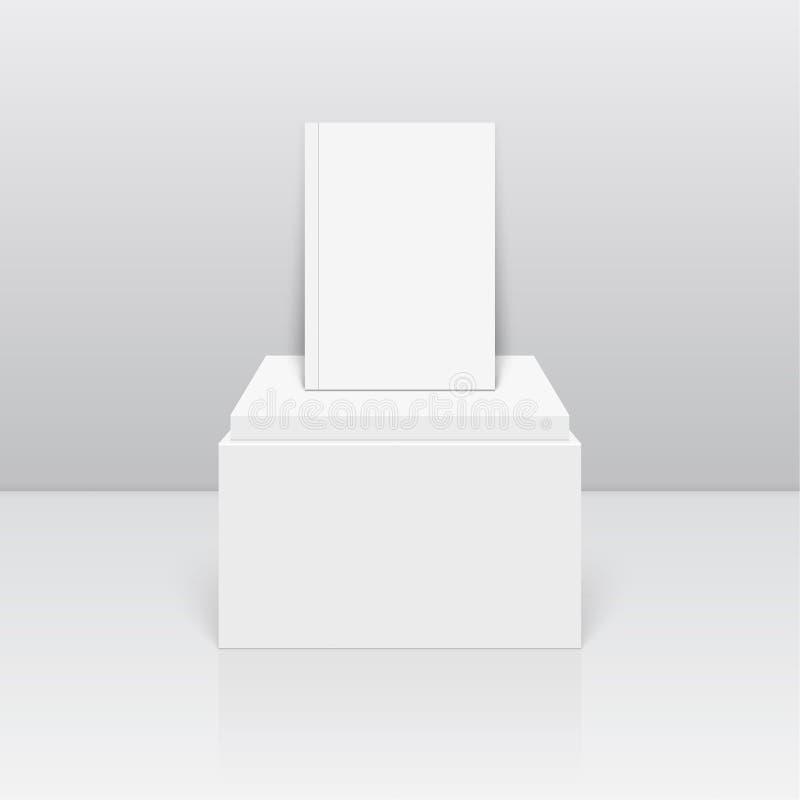 Cernido oval en blanco vacío en el podio libre illustration