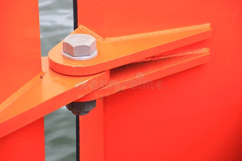 Cerniera arancione fotografia stock