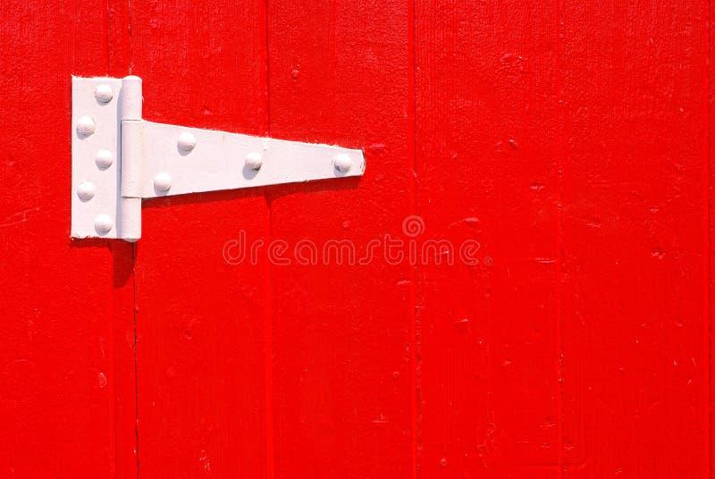 Cerniera di portello bianca fotografia stock