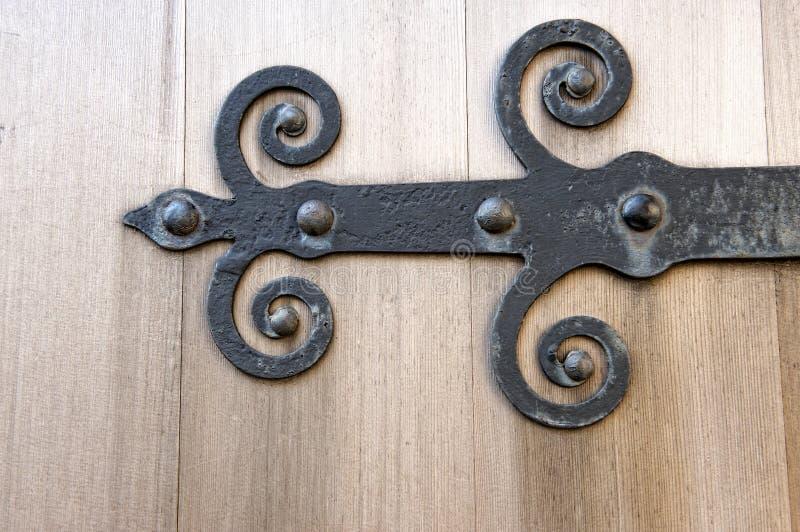 Cerniera di portello del ferro fotografie stock libere da diritti